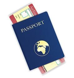 passport 05 vector image