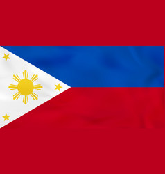 Philippines waving flag national flag vector
