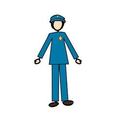 police officer icon image vector image