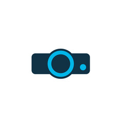 projector icon colored symbol premium quality vector image