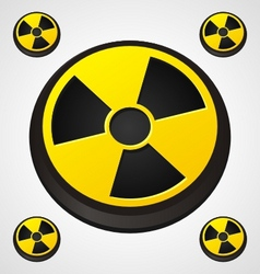 radiation round sign vector image