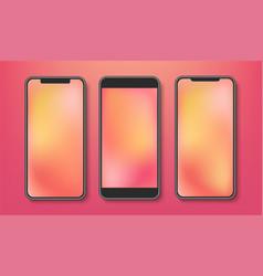 realistic smartphone mockup with blank display vector image