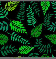 seamless pattern with fresh green leaves vector image