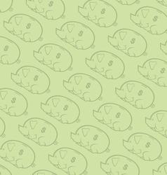 Seamless piggy bank pattern two vector