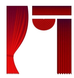 Set of theater curtains vector
