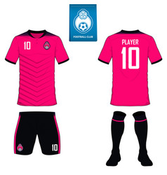 set soccer kit or football jersey template vector image