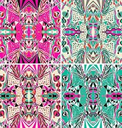 Set traditional ornamental paisley bandanna vector