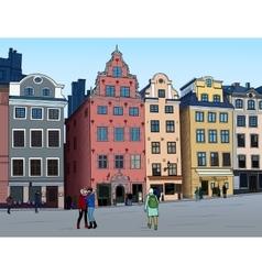 Stortorget in Stockholm vector image