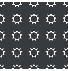 Straight black sun pattern vector