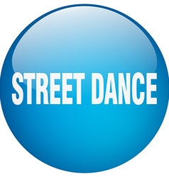 Street dance blue round gel isolated push button vector