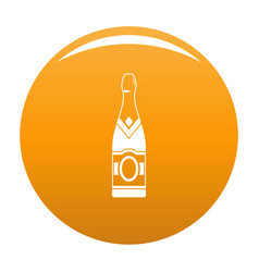 Sweet champagne icon orange vector