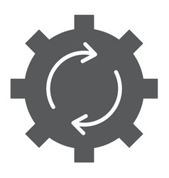 System update glyph icon data and analytics vector