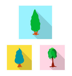 Tree and nature symbol vector