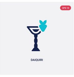Two color daiquiri icon from drinks concept vector