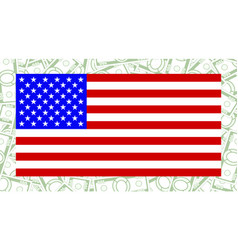 usa flag and money vector image