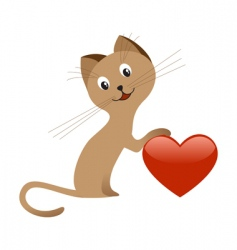 valentines day kitten vector image