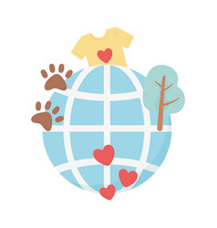 World adoption charity and donation concept vector