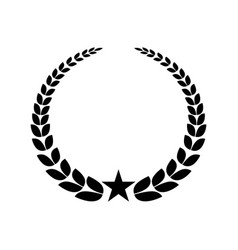 Wreath crown isolated icon vector
