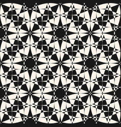 abstract mosaic seamless monochrome pattern vector image