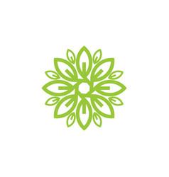 flower leaf logo vector image vector image