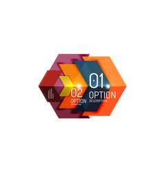 geometric abstract composition with text and vector image