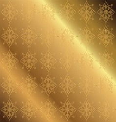 Golden Background Floral Luxury Ornamental vector image vector image