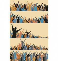 crowd foregrounds vector image vector image