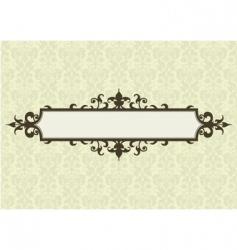ornate frame and floral pattern vector image