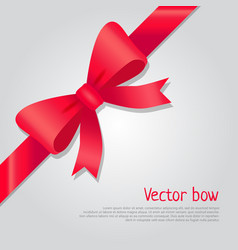 red bow colourful ribbon cartoon style vector image