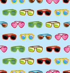 retro sunglasses seamless pattern vector image vector image