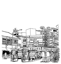 Street life sketchbook vector image vector image