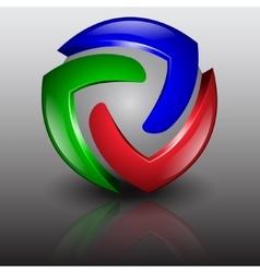 abstract logo 3d vector image vector image