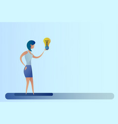 business woman new creative idea concept hold vector image