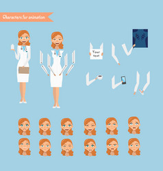 cheerful doctor vector image vector image