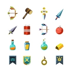 Flash Game Inventory Set vector image vector image