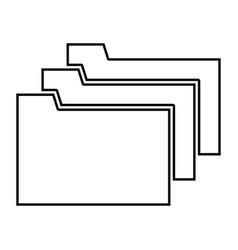 folders black color icon vector image