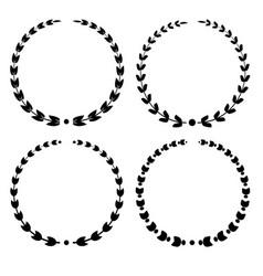 set of wreath vector image
