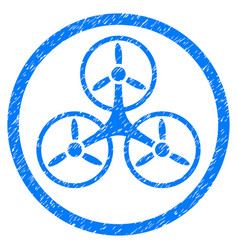 tricopter rounded grainy icon vector image vector image