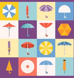 umbrella icons collection vector image