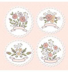 Wedding floral graphic set vector image