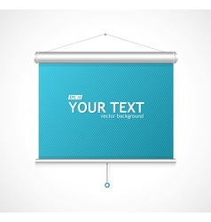 Blank roll up poster vector image