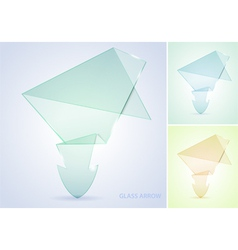 collect glass arrow vector image vector image