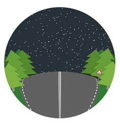 night road flat landscape vector image