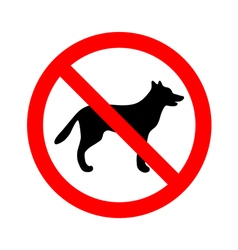No dogs allowed sign vector image vector image