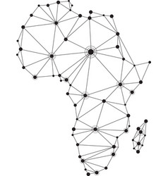abstract africa communications map vector image