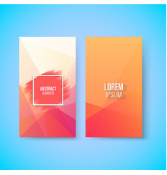 Abstract colorful geometric triangular vertical vector