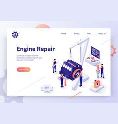 automobile repair service isometric website vector image