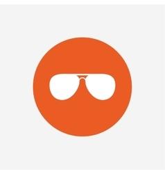 Aviator sunglasses sign icon Pilot glasses vector image