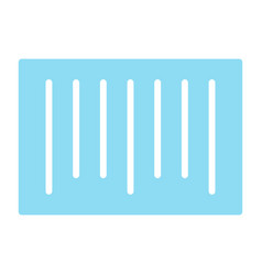 barcode silhouette icon 48x48 simple pictogram vector image