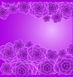 Beautiful violet rose flower background vector